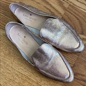 Rose Gold Kate Spade Loafers
